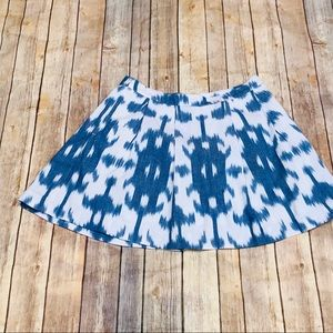 Vineyard Vines Ikat Pleated Skirt With Pockets